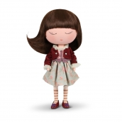 Anekke Doll Cozy with Maroon Outfit 21730
