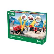 BRIO Set - Rail & Road Crane Set