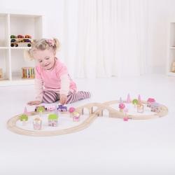 Bigjigs Fairy Figure of Eight Train Set 40 Pieces