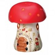 Bramble Toadstool Elf Lamp - Red