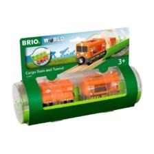 Brio Cargo Train and Tunnel 3 Pce Set