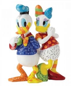 Britto Disney Donald and Daisy Large Figurine