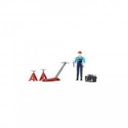 Bruder Bworld Figure Set Mechanic with Garage Equipment