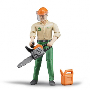Bruder Bworld Forestry Worker with Accessories