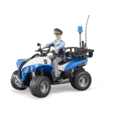 Bruder Bworld Quad Bike with Policeman and Accessories