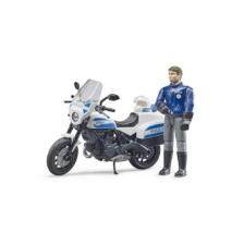 Bruder Bworld Scrambler Ducati Police Motorbike and Policeman