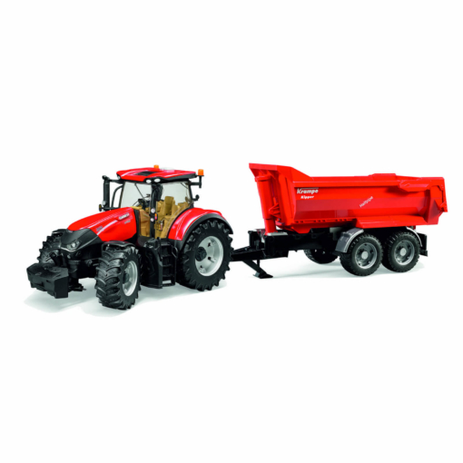 Bruder Case IH Optum 300 CVX with Krampe Tandem Half Pipe Trailer