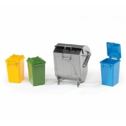 Bruder Garbage Bin Set 3 Small 1 Large