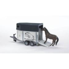 Bruder Horse Trailer And Horse