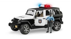 Bruder Jeep Wrangler Rubicon Police Car with Light and Sound