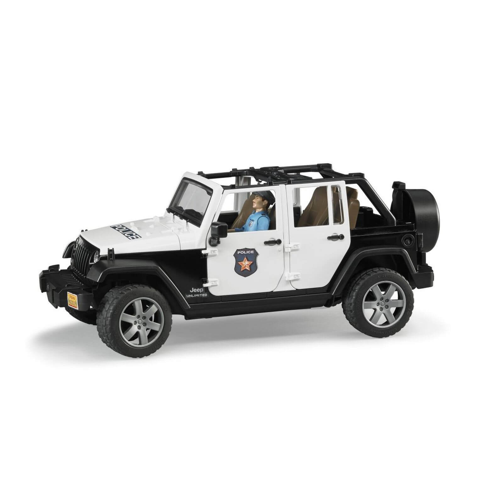 bruder jeep wrangler rubicon police vehicle with. Black Bedroom Furniture Sets. Home Design Ideas