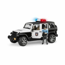 Bruder Jeep Wrangler Rubicon Police Vehicle with Policeman and Accessories