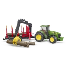 Bruder John Deere 7930 with Forestry Trailer and 4 Logs