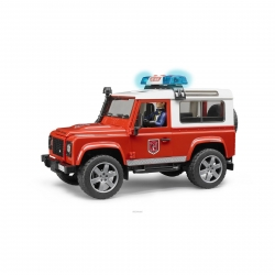 Bruder Land Rover Defender Fire Department Wagon Light and Sound