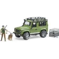 Bruder Land Rover Defender Station Wagon with Forester and Dog