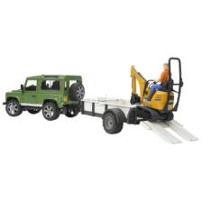 Bruder Land Rover Defender and Trailer