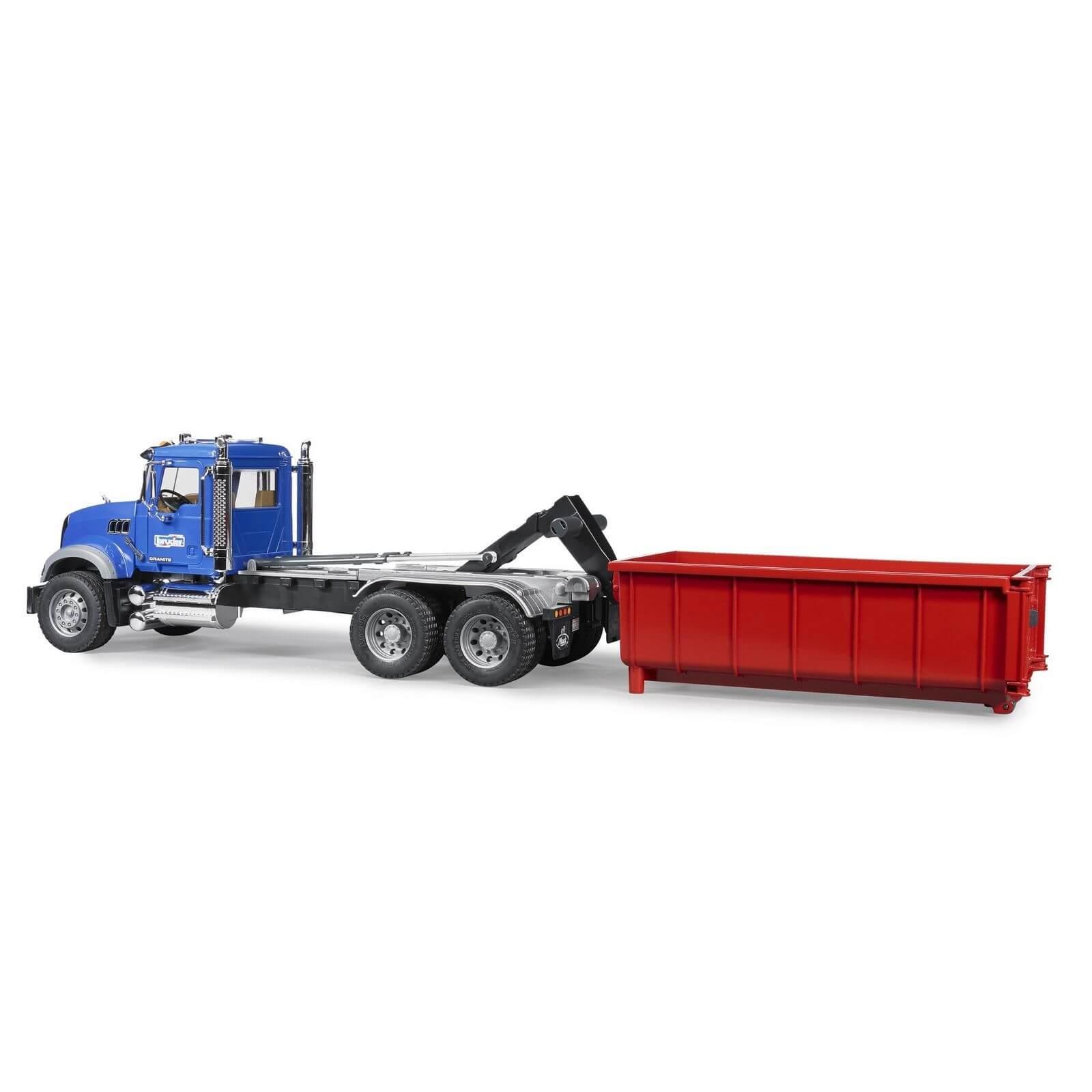 bruder mack granite roll off container truck jadrem toys