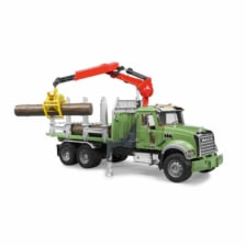 Bruder MACK Granite Timber Truck With Loading Crane