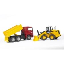 Bruder MAN TGA Construction Truck With Road Loader