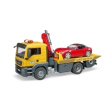 Bruder MAN TGA Flat Top Truck with Roadster