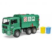 Bruder  MAN TGA Garbage Truck Green Rear Loading