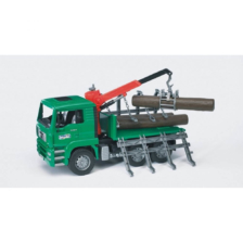 Bruder MAN TGA Timber Truck With Loading Crane and Logs
