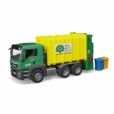 Bruder MAN TGS Rear Loading Garbage Truck Green