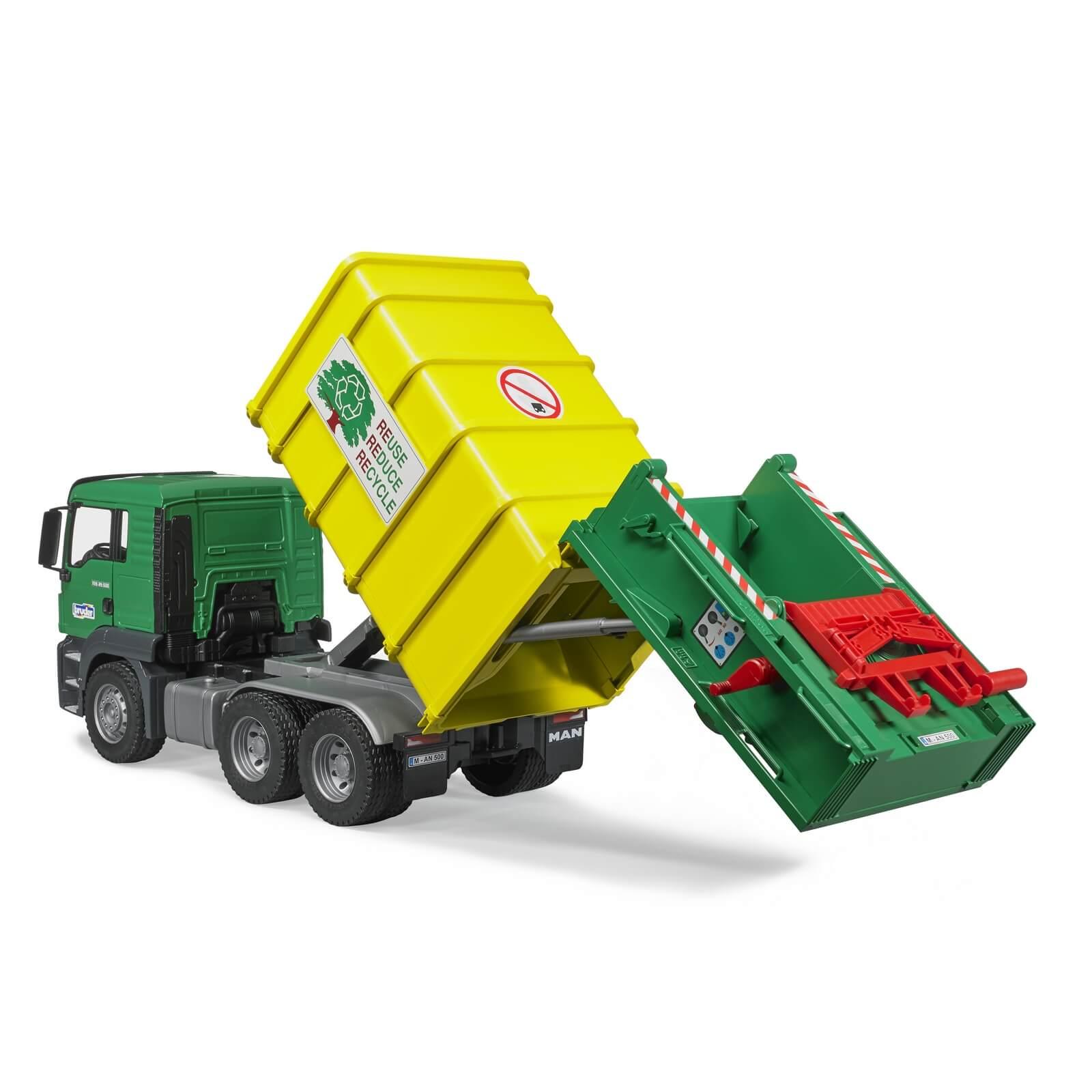Bruder Man Tgs Rear Loading Garbage Truck Green Jadrem Toys