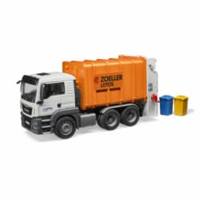 Bruder MAN TGS Rear Loading Garbage Truck Orange