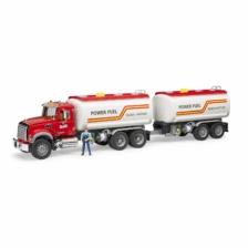 Bruder Mack Granite Petrol Truck and Trailer