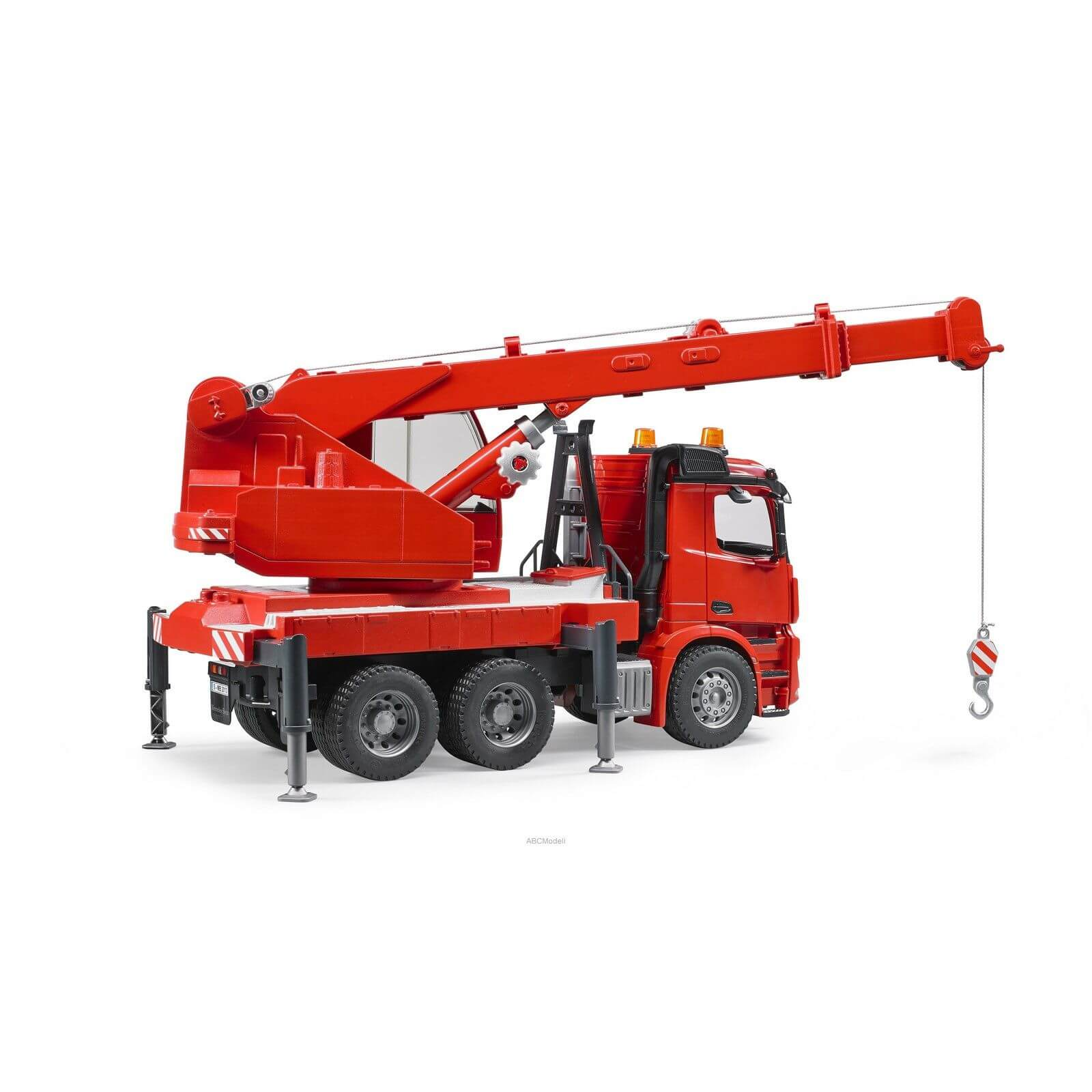 Bruder mercedes benz arocs crane truck with light and for Mercedes benz truck toys
