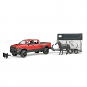 Bruder Ram 2500 Power Wagon with Horse Trailer and Horse