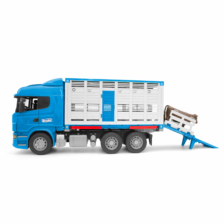 Bruder Scania R Series Cattle Transport Truck with 1 Cattle