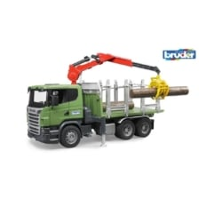 Bruder Scania R Series Timber Truck And Crane