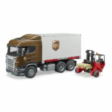 Bruder Scania R Series UPS Logistics Truck with Forklift