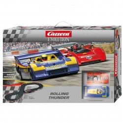 Carrera Evolution Rolling Thunder Porsche Slot Car Set