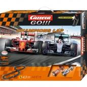 Carrera Go Champions Lap F1 Ferrari and Mercedes Slot Car Set