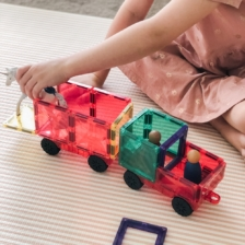 Connetix 24 Piece Car Pack Magnetic Tiles