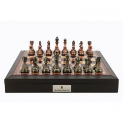 Dal Rossi Bevelled Edge Chess Set Antique Pieces