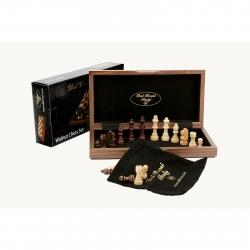 Dal Rossi Folding Walnut Chess Set 12 inch