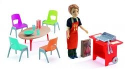 Djeco Barbeque and Accessories for Dolls House