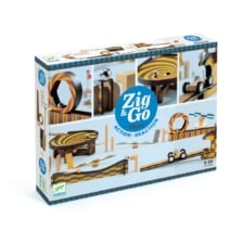 Djeco Construction Wood Zig and Go 45 Pieces