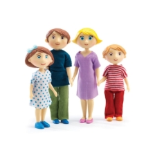 Djeco Family of Gaspard and Romy Dolls House Dolls
