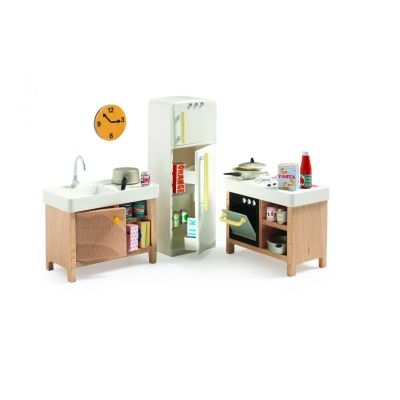 Djeco Kitchen Dolls House Furniture 1:16