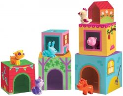 Djeco Topanifarm Stacking Blocks with Animals