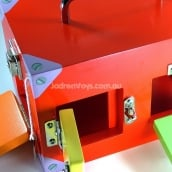 Educational Montessori Small Lock Activity Box Red