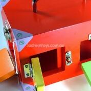 Educational Montessori Small Lock Activity Box Red