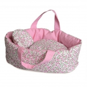 Egmont Soft Carry Cot with Flower Bedding for Doll