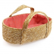 Egmont Woven Moses Basket with Red Lining for Doll