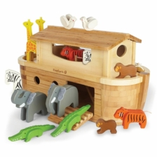 Everearth Giant Bamboo Noah's Ark with Animals NEW